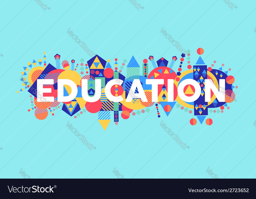 Creative education concept font vector | Price: 1 Credit (USD $1)