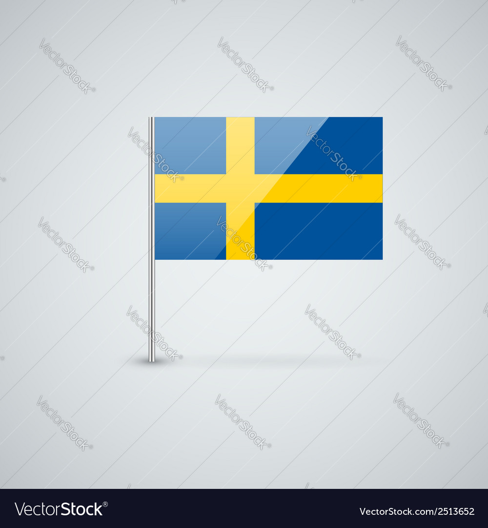 Flag of sweden vector | Price: 1 Credit (USD $1)