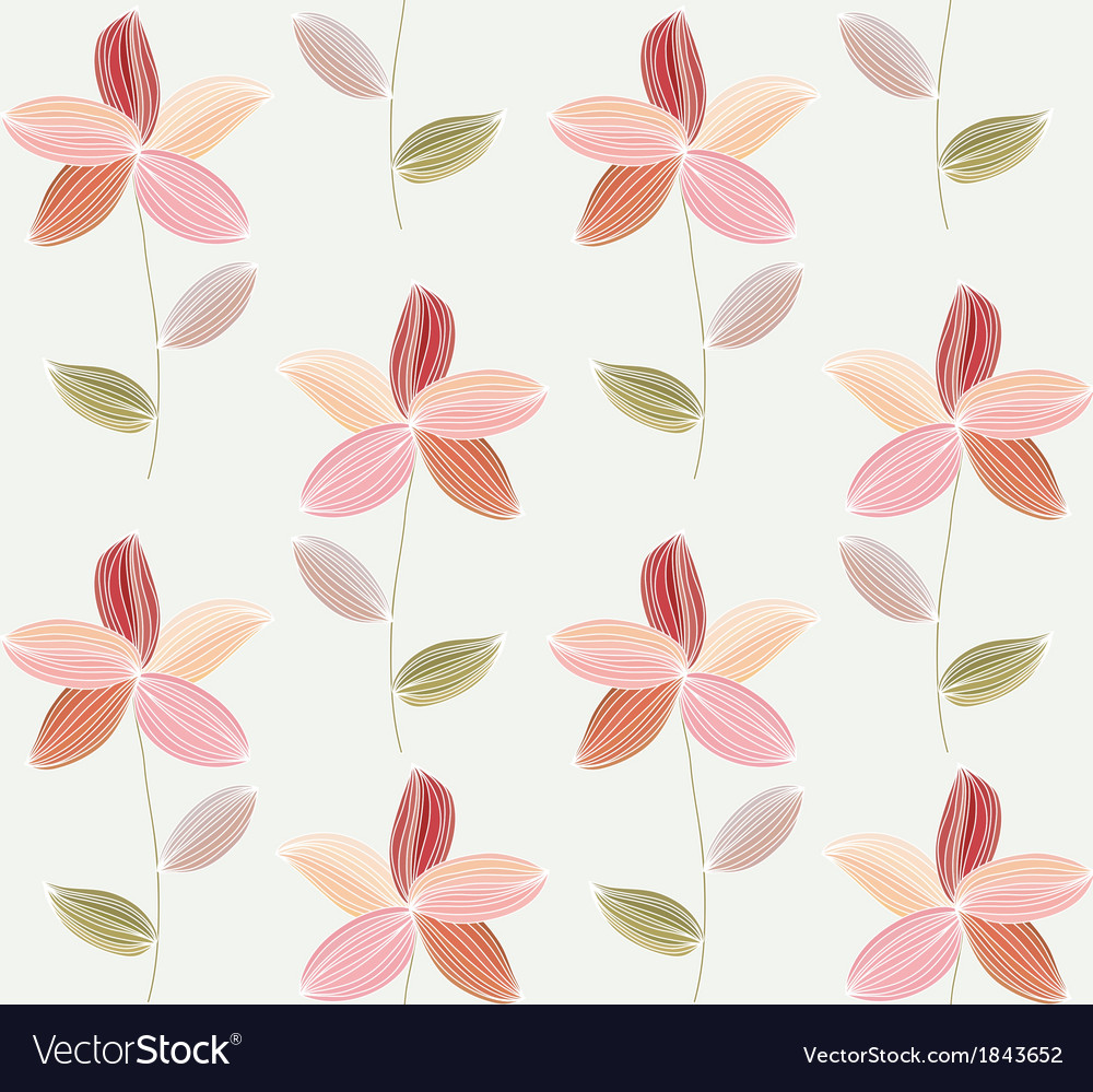 Flower petal on a white background vector | Price: 1 Credit (USD $1)