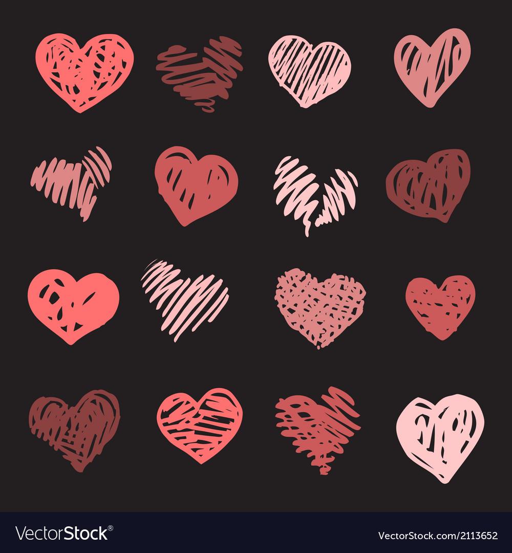 Love heart set vector | Price: 1 Credit (USD $1)