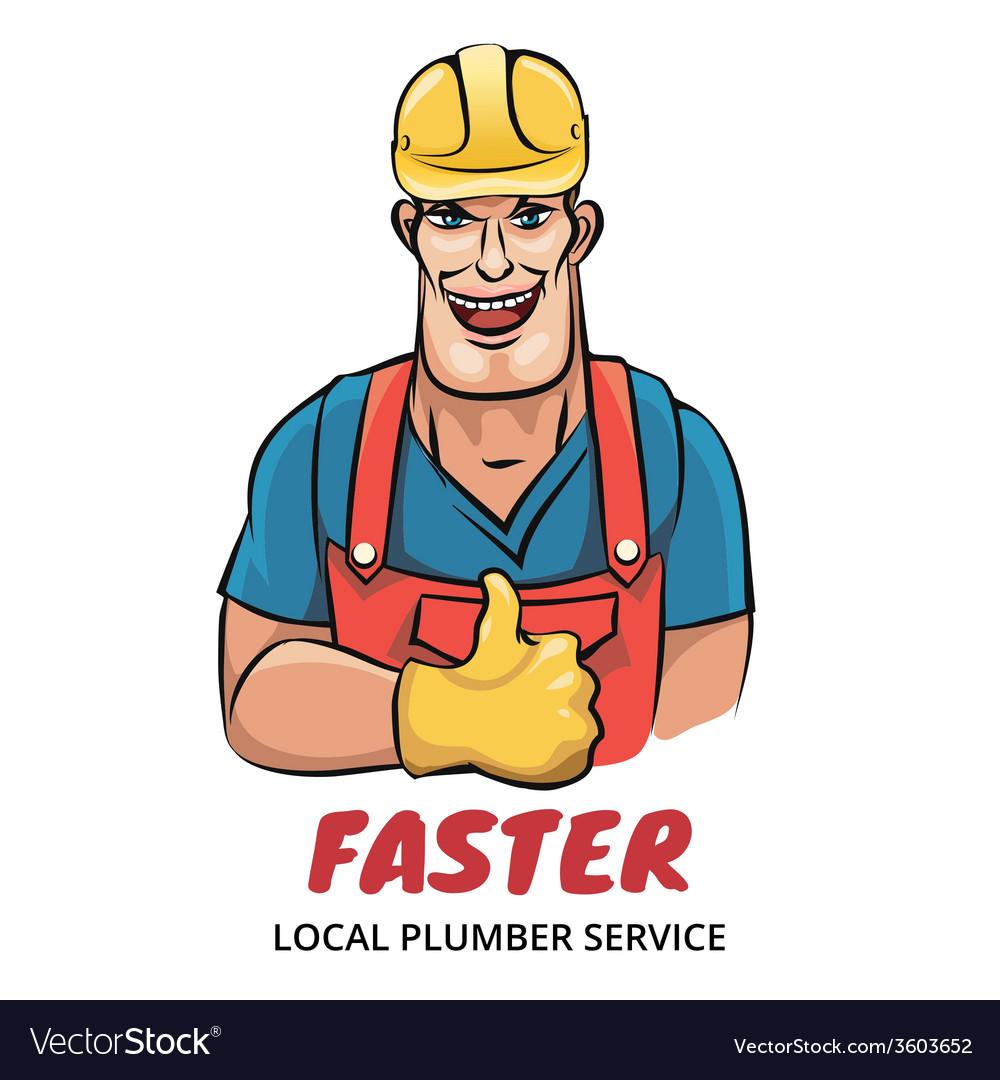 Plumber service vector | Price: 1 Credit (USD $1)