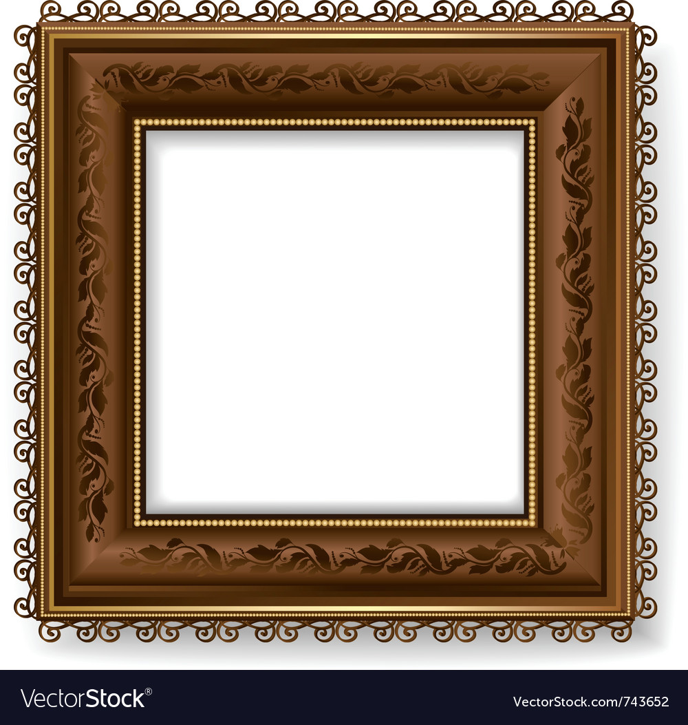 Retro vintage wooden frame vector | Price: 1 Credit (USD $1)