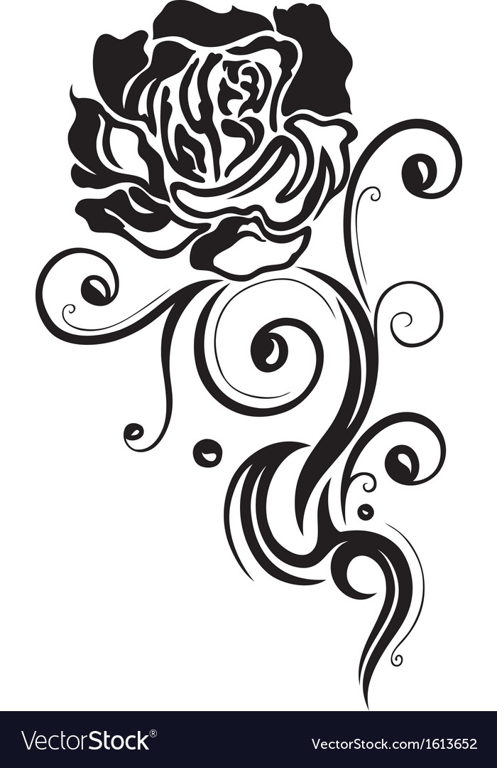 Rose flower love vector | Price: 1 Credit (USD $1)