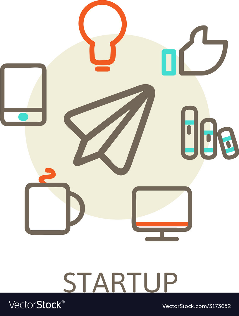 Start up trendy for new businesses vector | Price: 1 Credit (USD $1)
