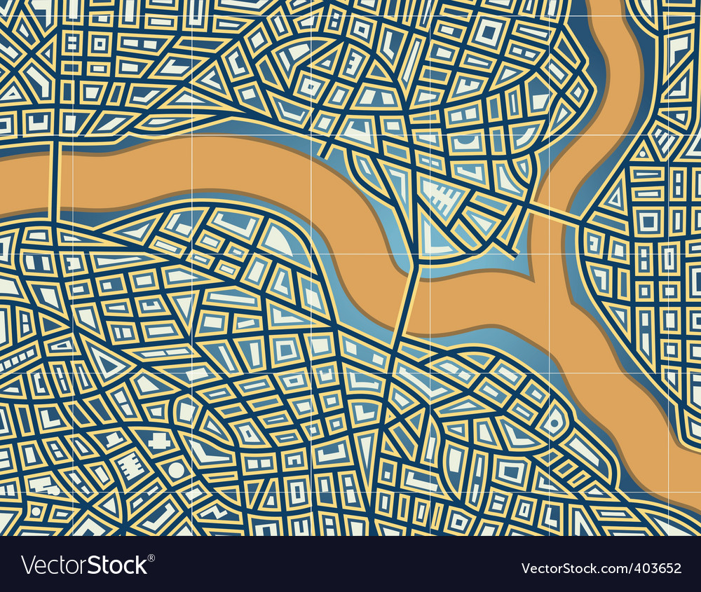 Streets and river vector | Price: 1 Credit (USD $1)