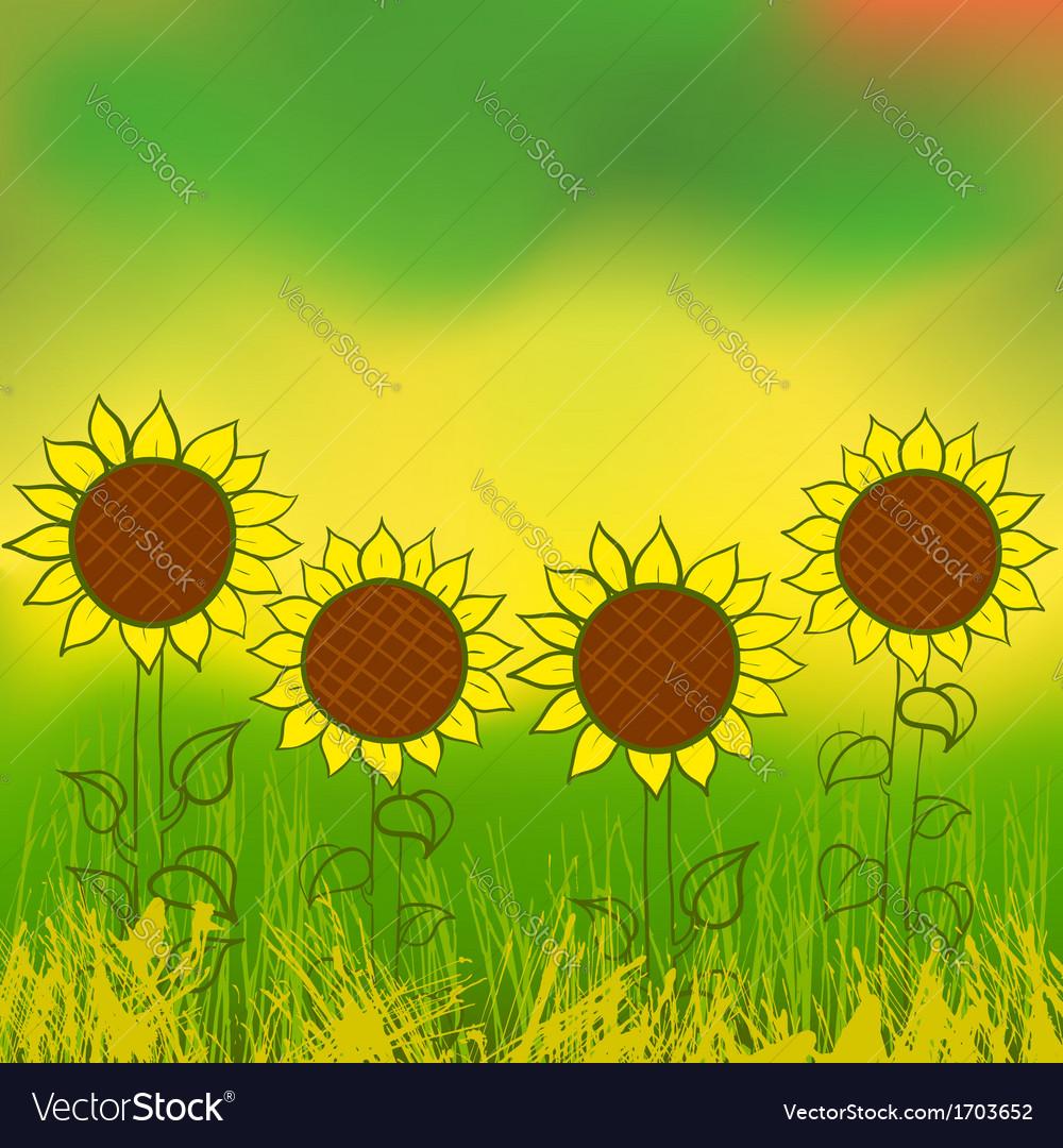 Watercolor sunflower vector   Price: 1 Credit (USD $1)