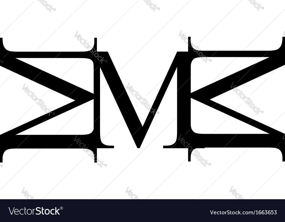 Artwork with alphabet m vector | Price: 1 Credit (USD $1)