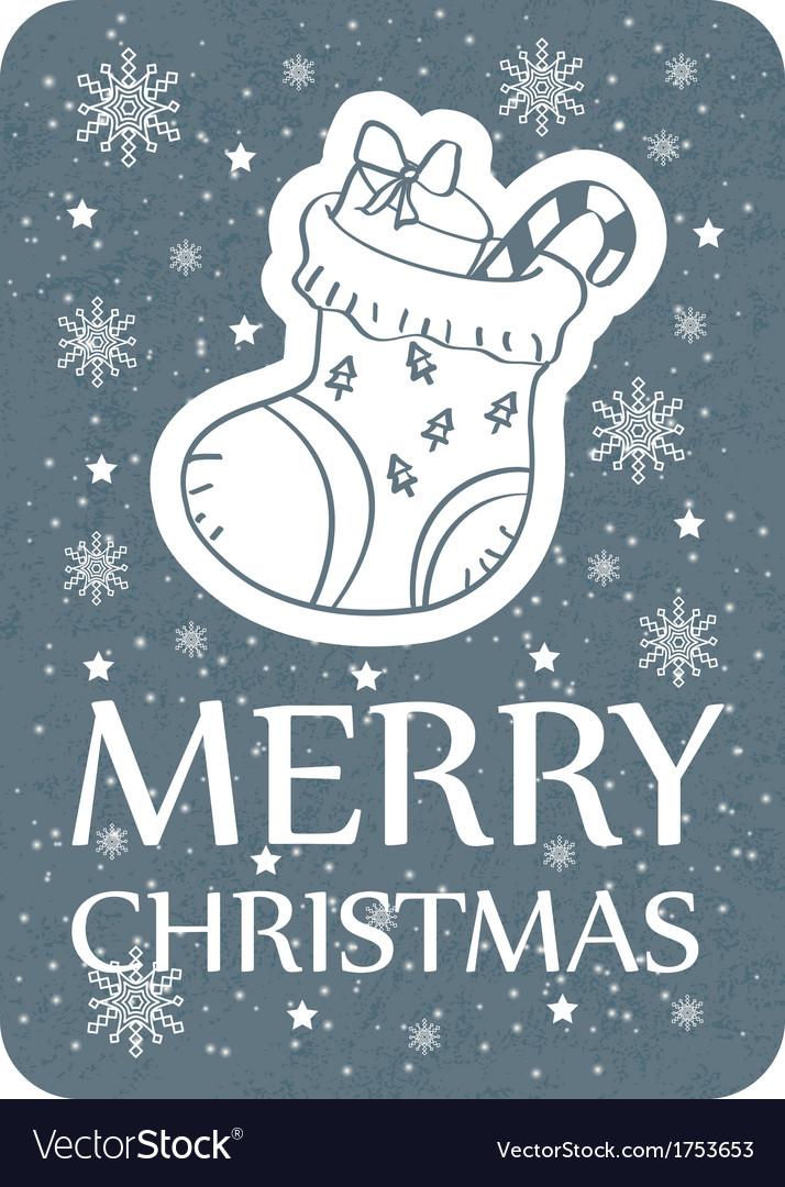 Christmas greeting card grey vector | Price: 1 Credit (USD $1)