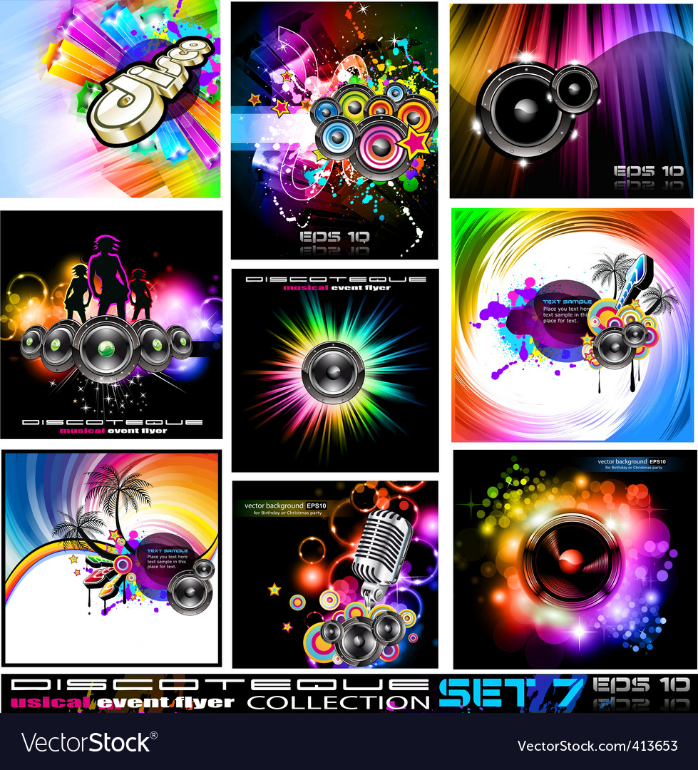 Disco flyers vector | Price: 3 Credit (USD $3)