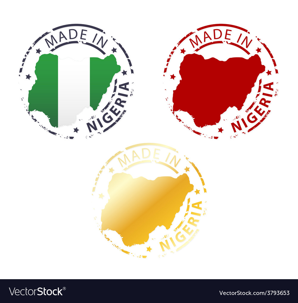 Made in nigeria stamp vector | Price: 1 Credit (USD $1)