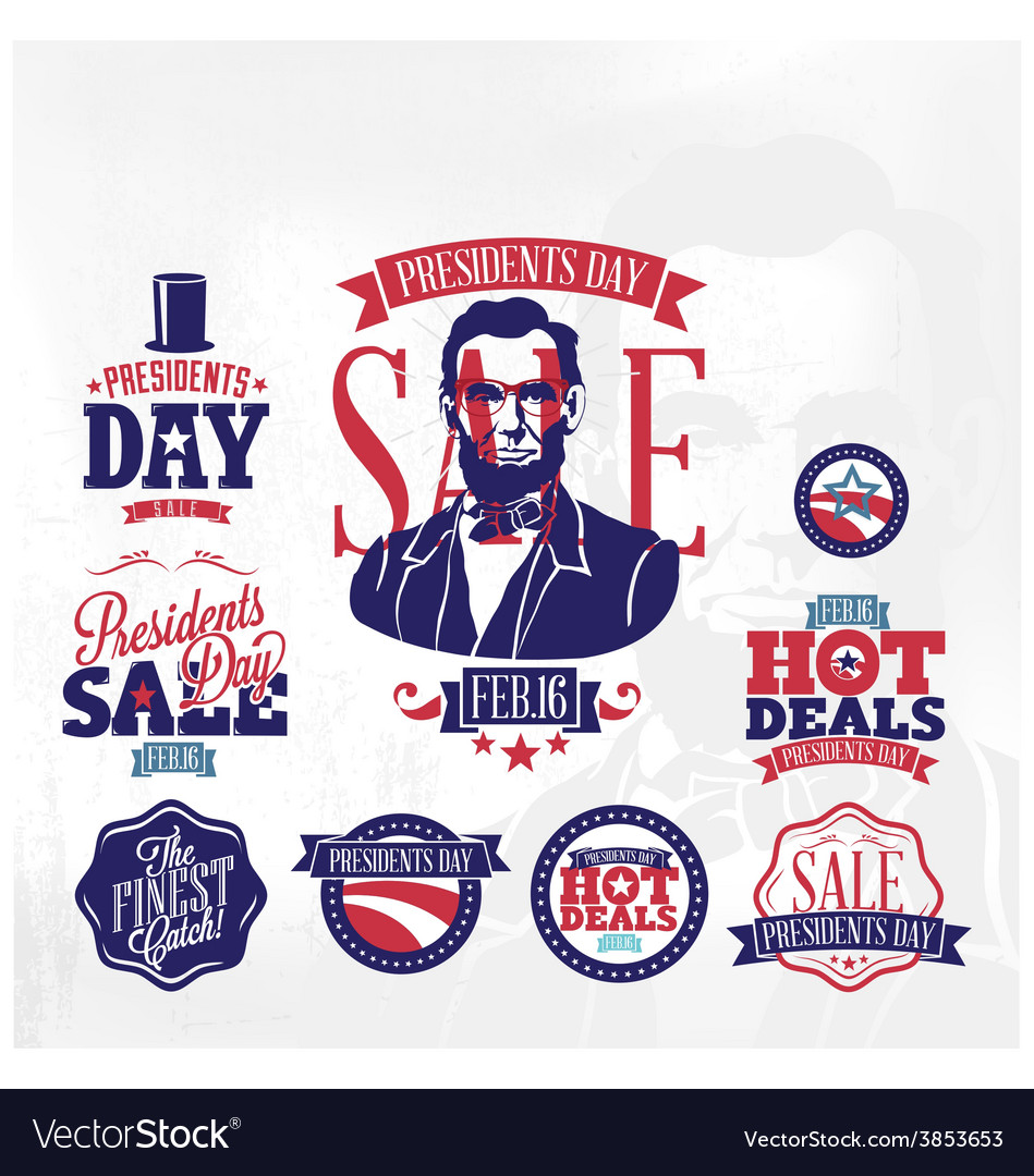 Presidents day sale vector | Price: 1 Credit (USD $1)