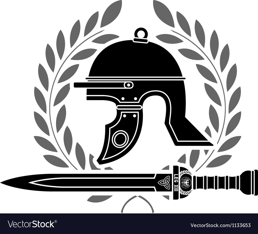 Roman helmet stencil fourth variant vector | Price: 1 Credit (USD $1)