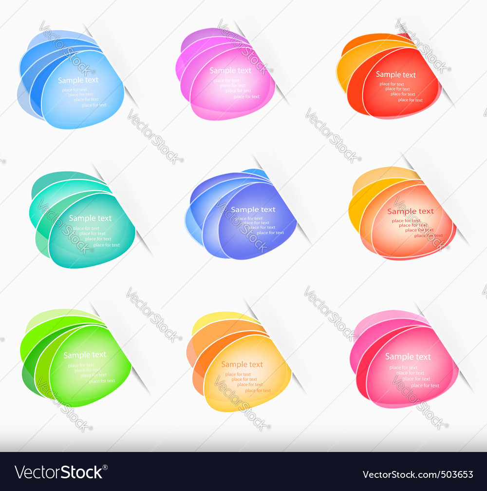 Set with color bubblies vector   Price: 1 Credit (USD $1)