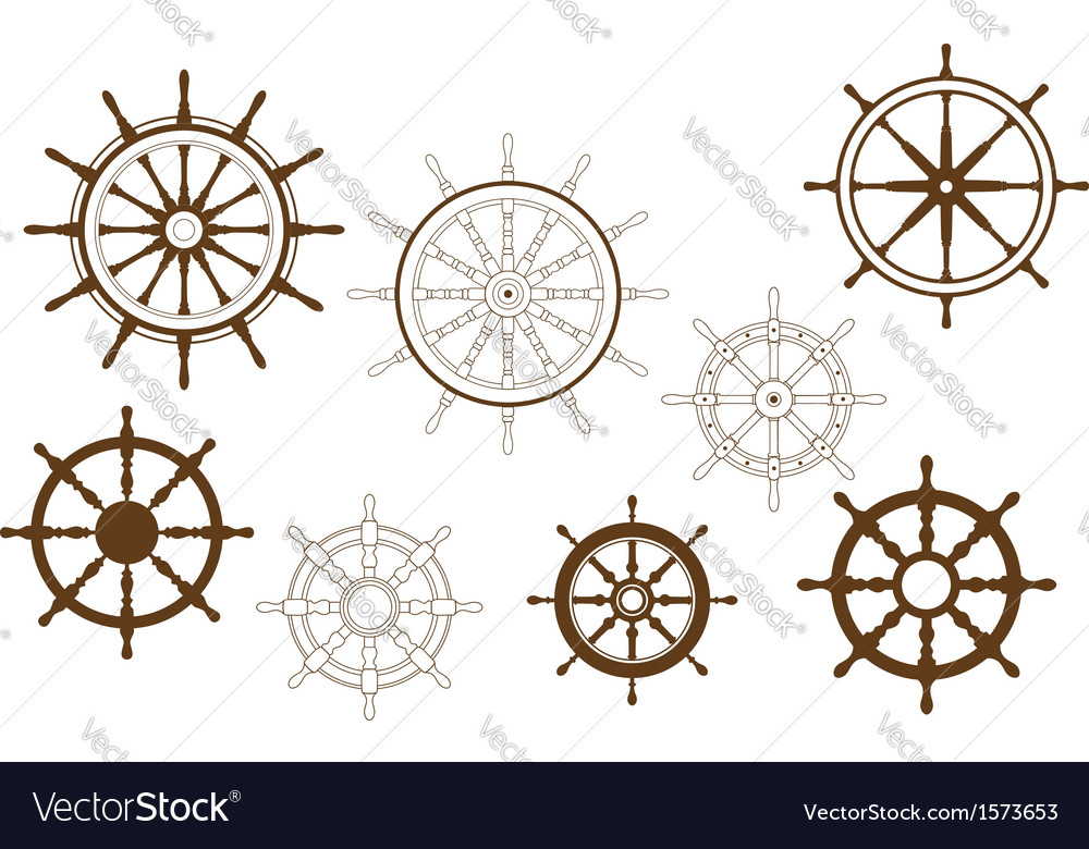 Steering wheels set vector | Price: 1 Credit (USD $1)