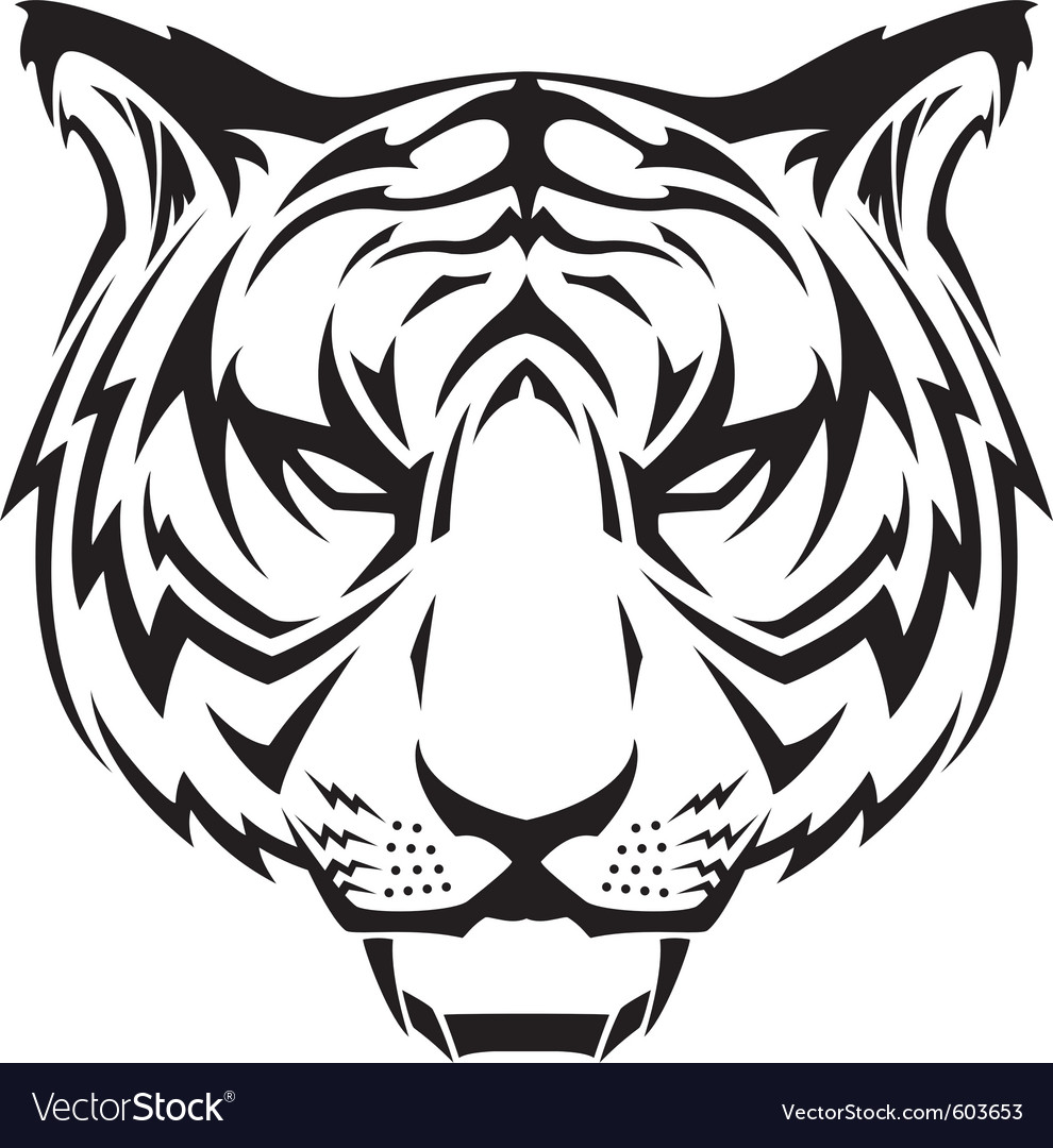 Tattoo tigers head vector | Price: 1 Credit (USD $1)