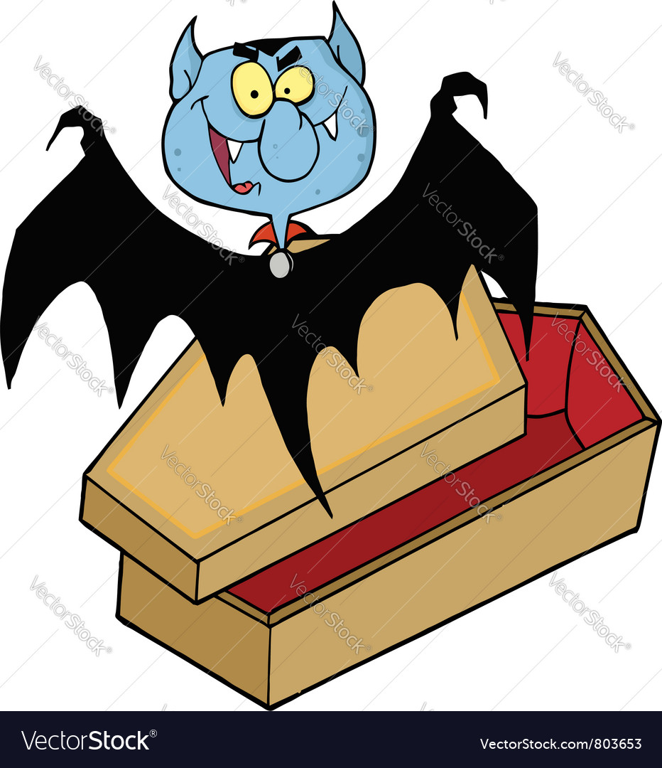 Vampire out of the coffin vector | Price: 1 Credit (USD $1)