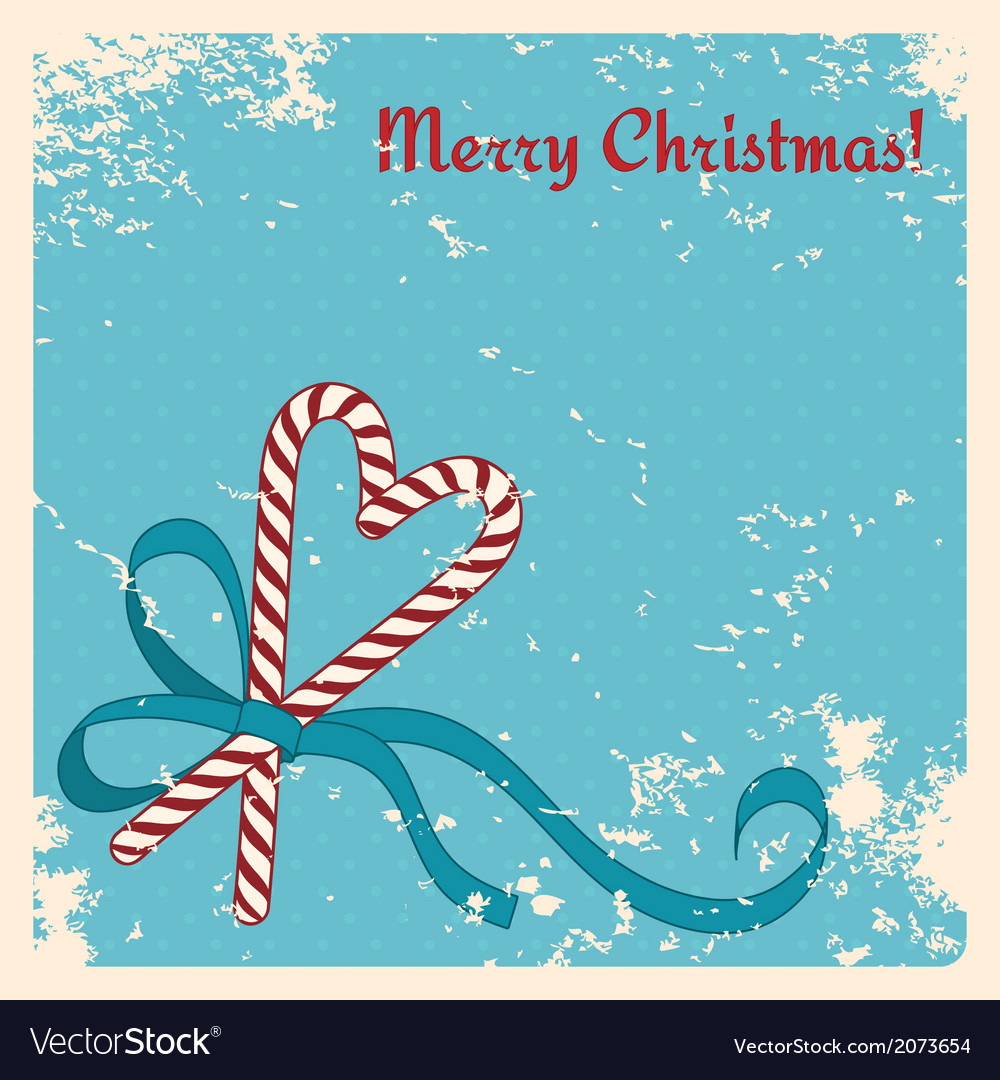 Christmas candies cane with ribbon vector | Price: 1 Credit (USD $1)