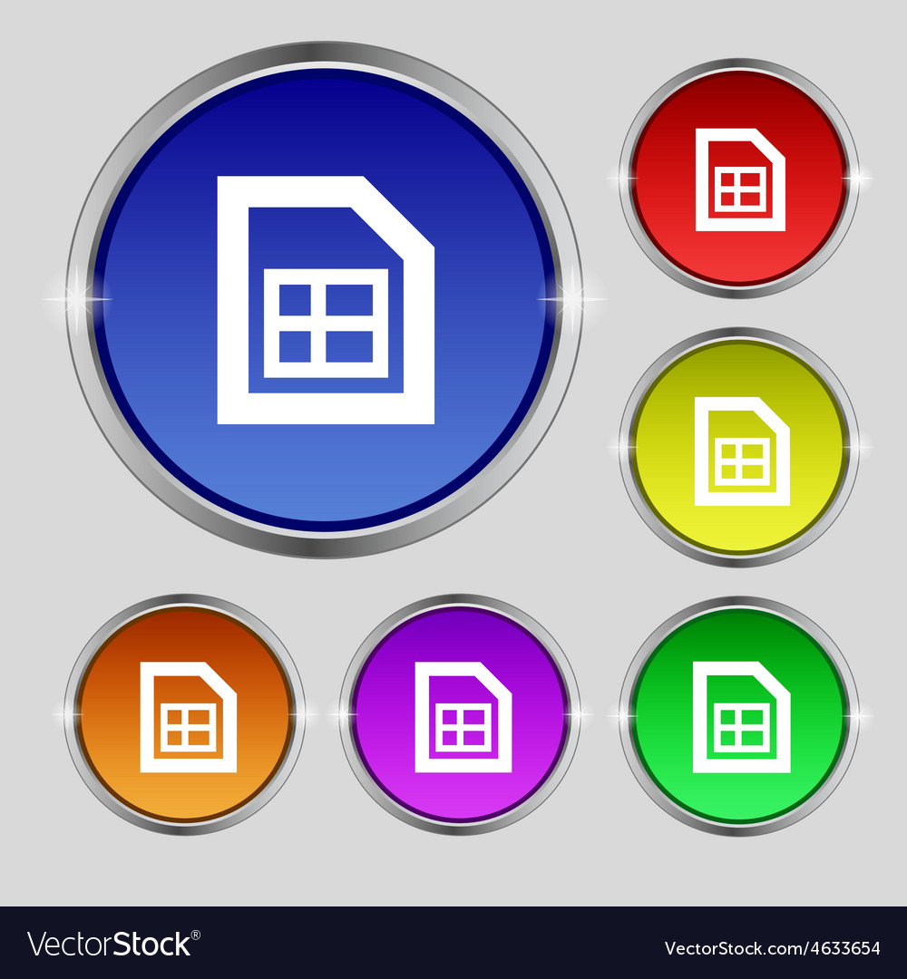 File document icon sign round symbol on bright vector | Price: 1 Credit (USD $1)