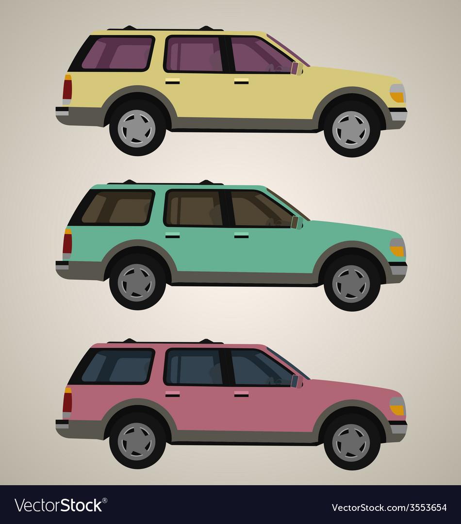 Flat 4x4 car 1 vector   Price: 1 Credit (USD $1)