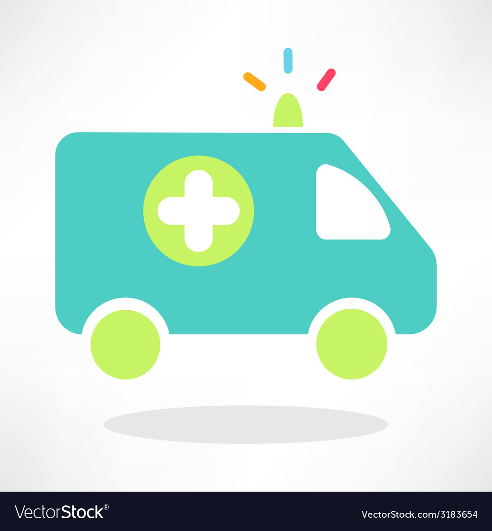 Flat icon of ambulance vector | Price: 1 Credit (USD $1)