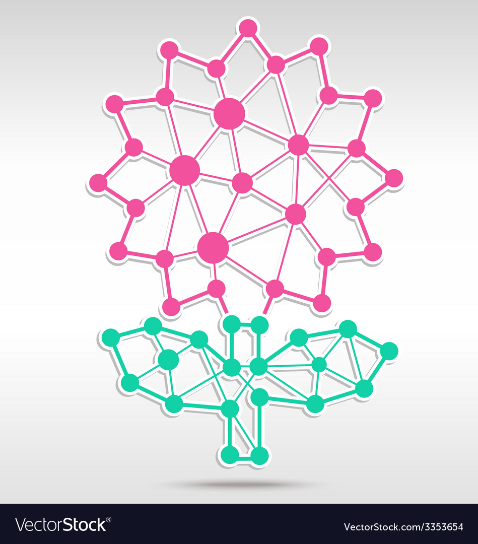 Flower network vector | Price: 1 Credit (USD $1)