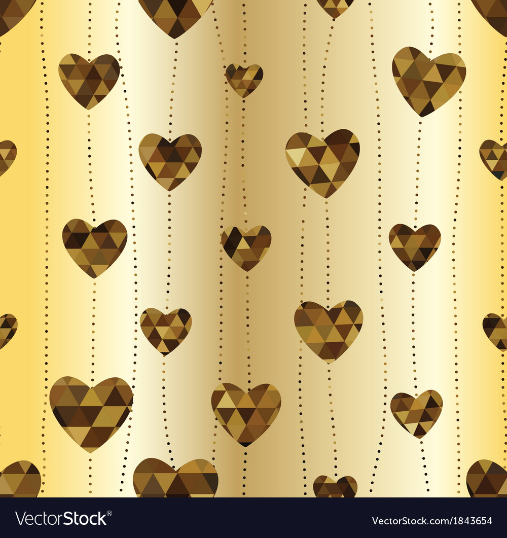 Garland with golden heart vector | Price: 1 Credit (USD $1)