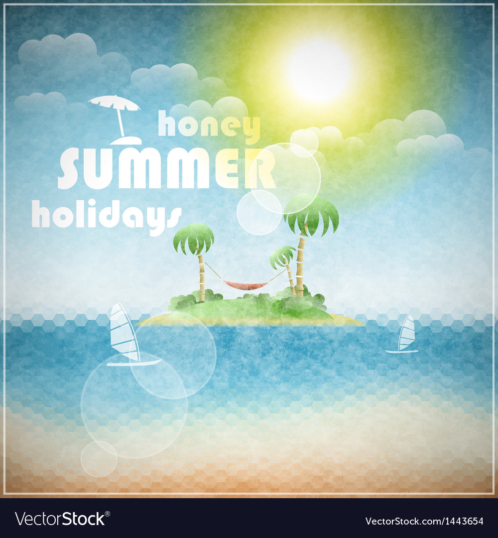 Honey summer holidays vector | Price: 1 Credit (USD $1)