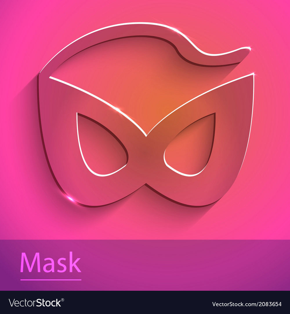 Mask sign glass icon vector | Price: 1 Credit (USD $1)