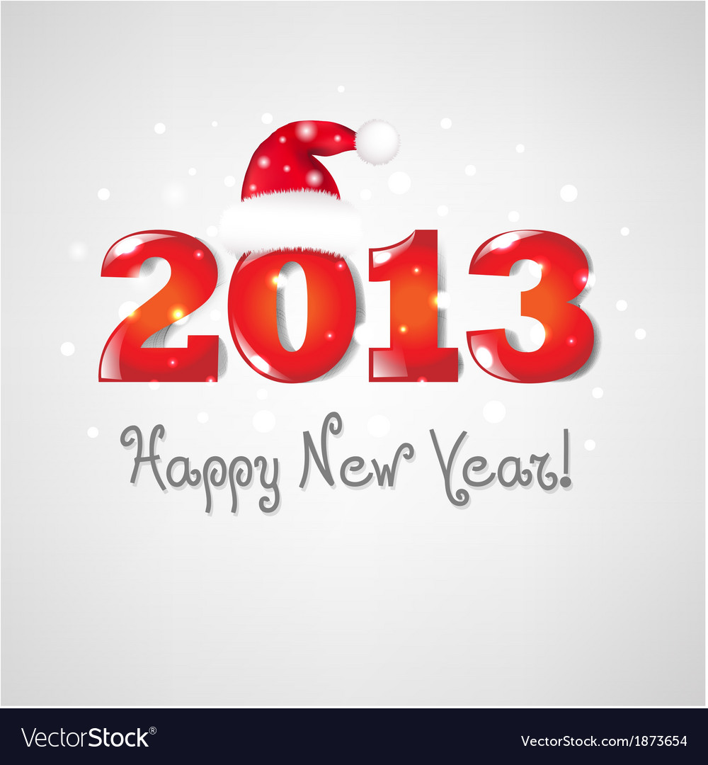 New years retro card vector | Price: 1 Credit (USD $1)