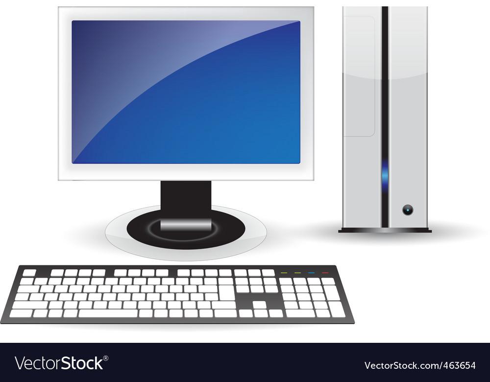 Pc desktop vector | Price: 3 Credit (USD $3)
