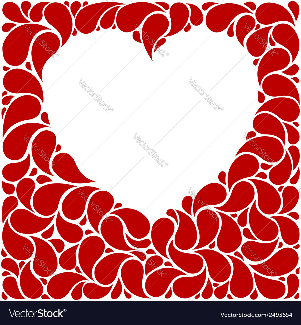 Red heart frame vector | Price: 1 Credit (USD $1)
