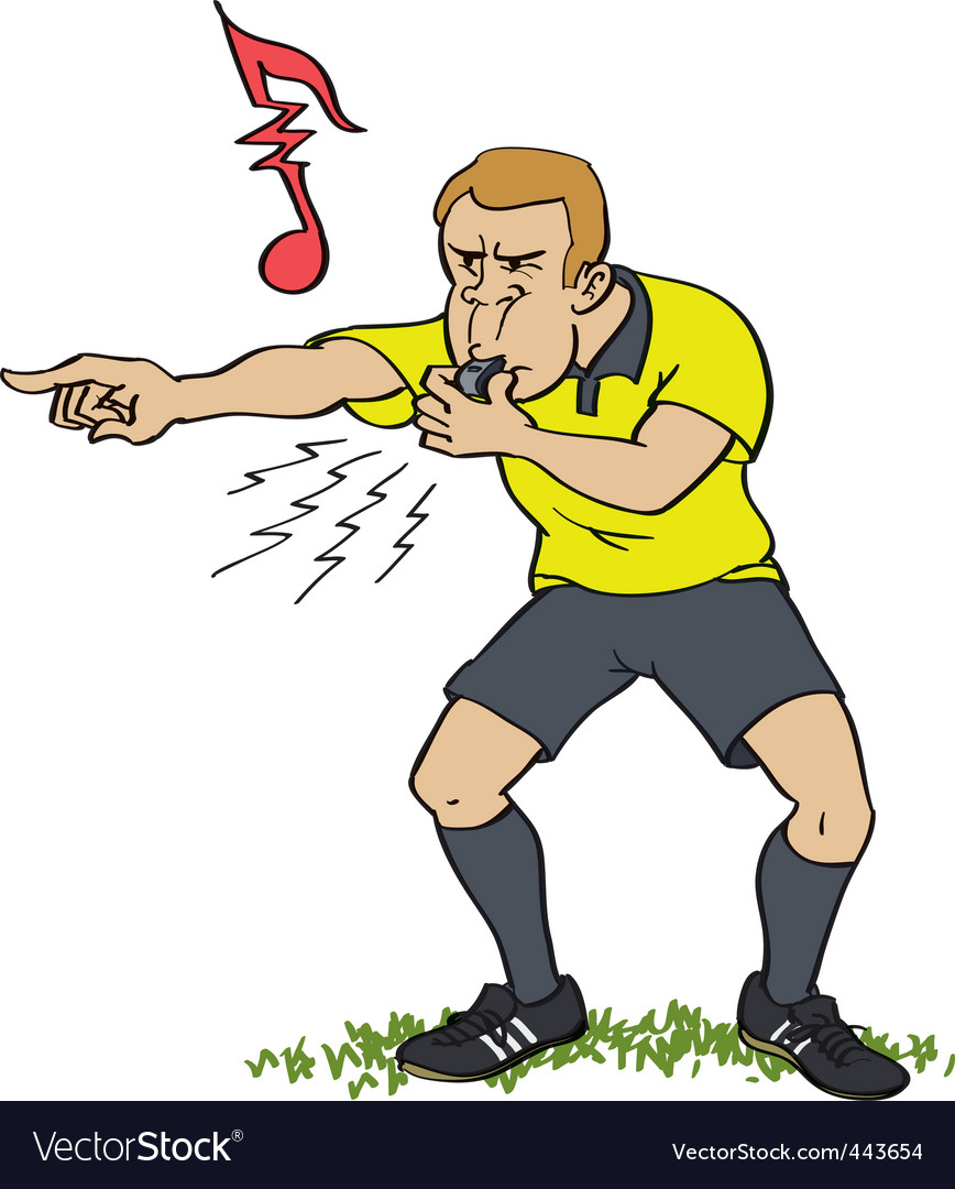 Referee whistling vector | Price: 3 Credit (USD $3)