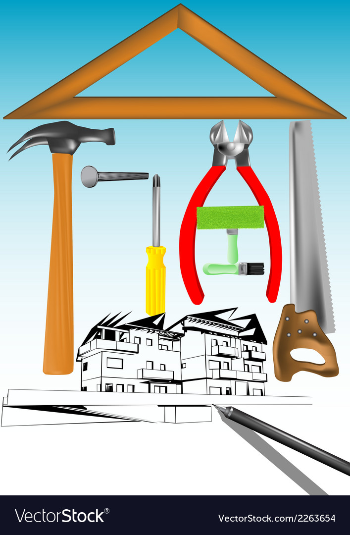 Renovation house vector | Price: 1 Credit (USD $1)