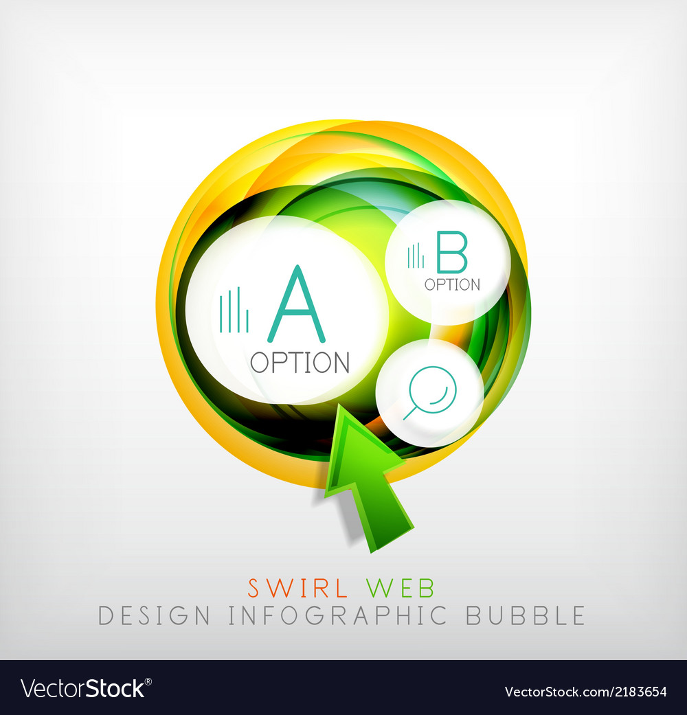 Swirl web design infographic bubble - flat concept vector | Price: 1 Credit (USD $1)
