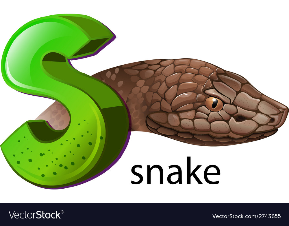 A letter s for snake vector | Price: 1 Credit (USD $1)