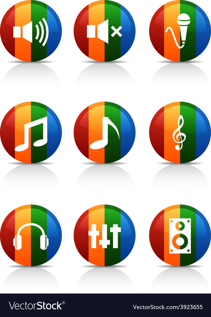 Audio buttons vector | Price: 1 Credit (USD $1)