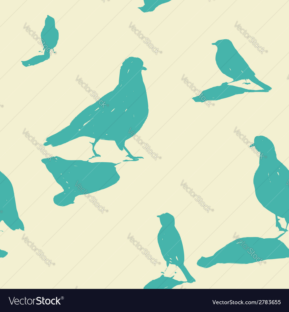 Birds on the ground seamless pattern vector | Price: 1 Credit (USD $1)