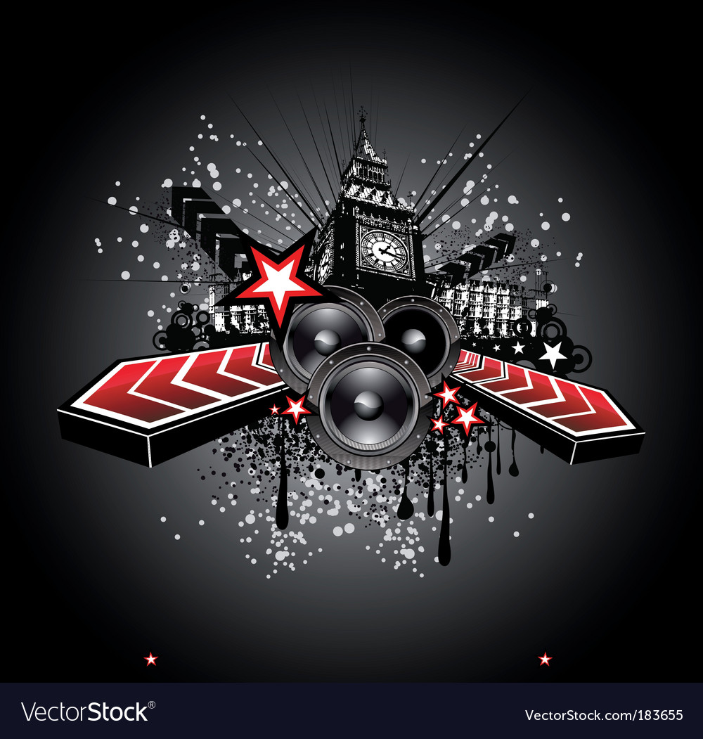 Disco music flyer background vector