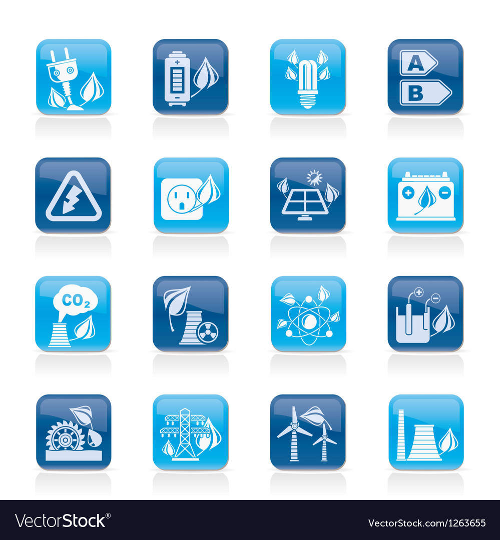 Green energy and environment icons vector | Price: 1 Credit (USD $1)