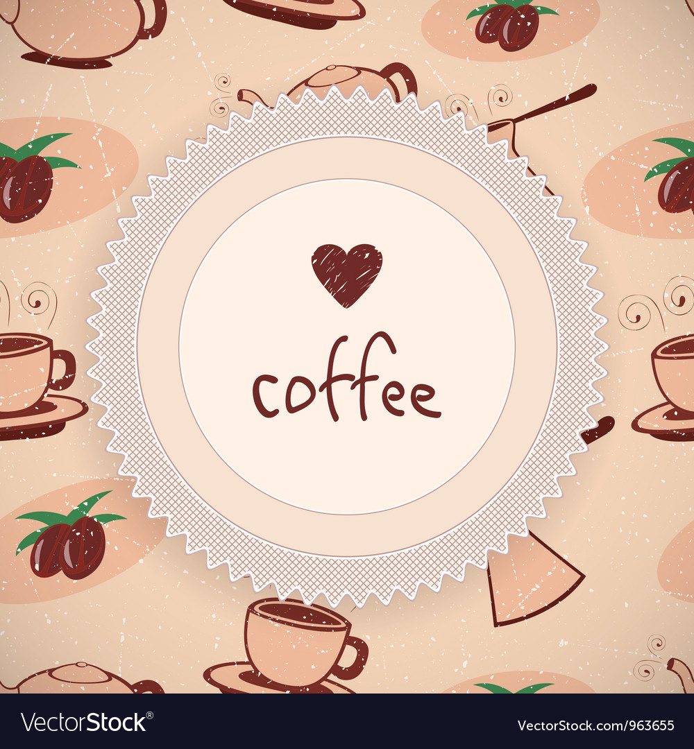 Love coffee background vector | Price: 1 Credit (USD $1)