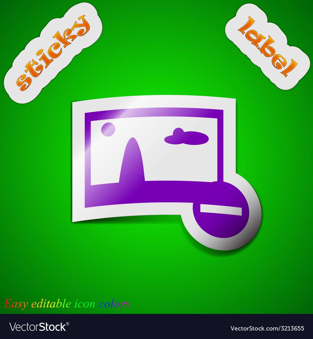 Minus file jpg icon sign symbol chic colored vector   Price: 1 Credit (USD $1)