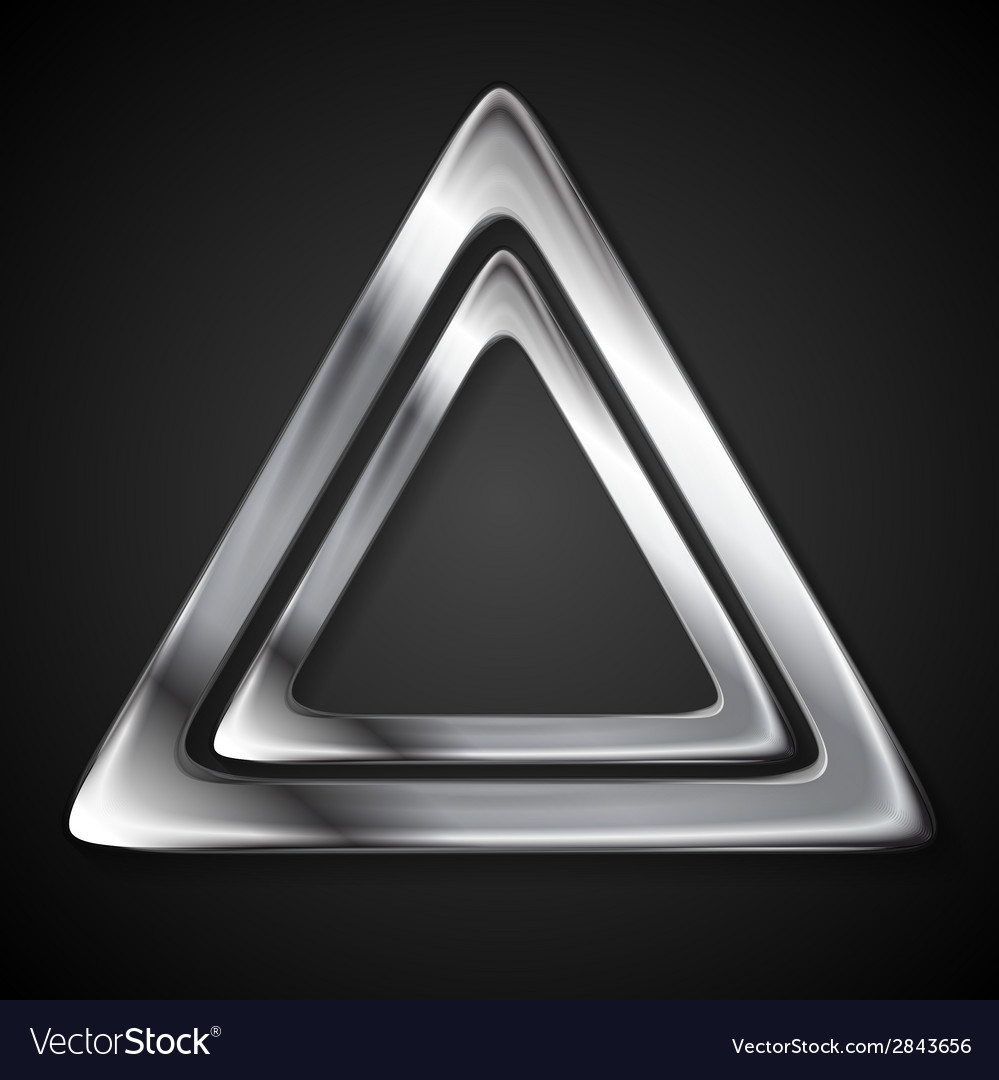 Abstract metallic triangle logo vector | Price: 1 Credit (USD $1)