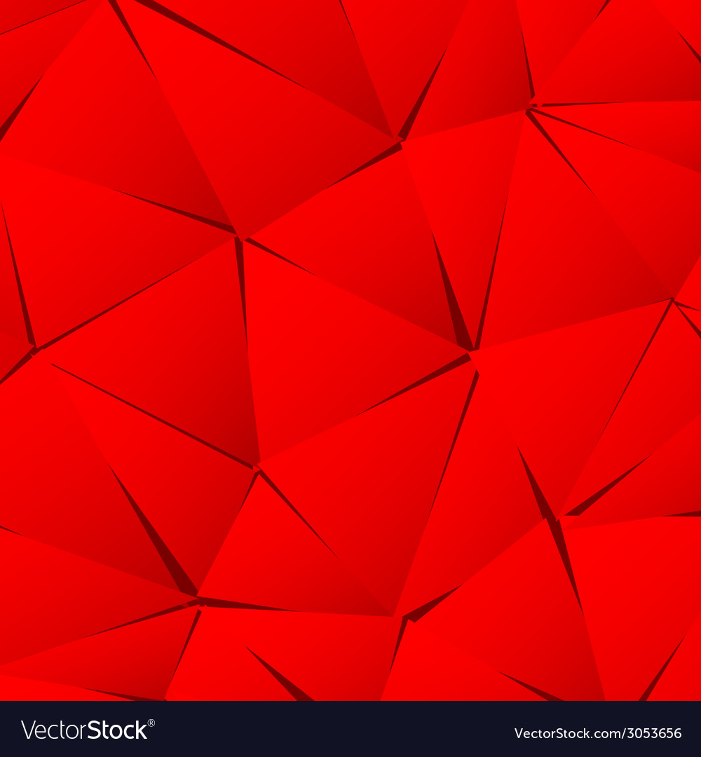 Abstract red paper triangle background vector | Price: 1 Credit (USD $1)