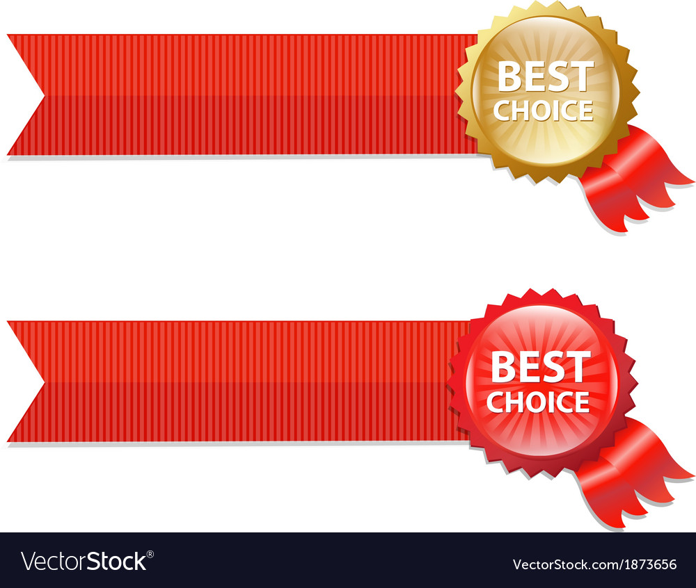 Best choice labels with ribbons vector | Price: 1 Credit (USD $1)