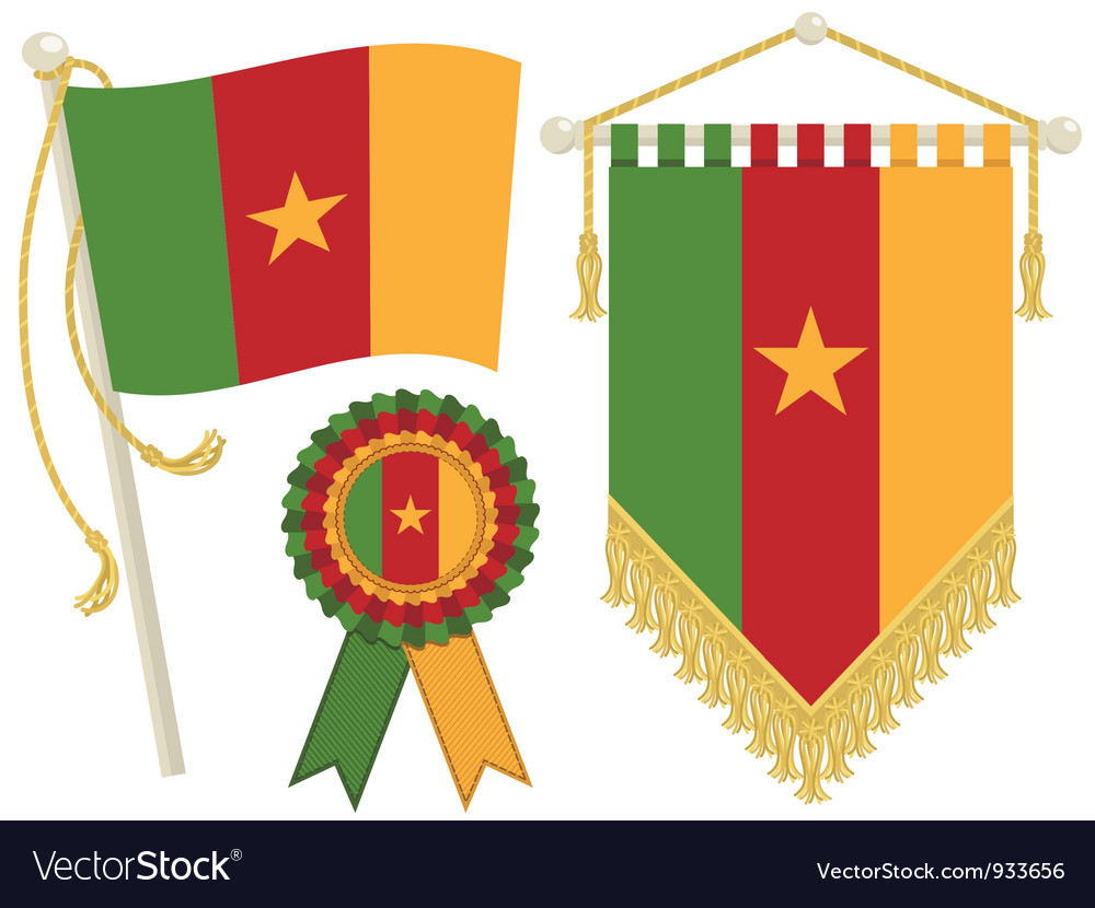 Cameroon flags vector | Price: 1 Credit (USD $1)