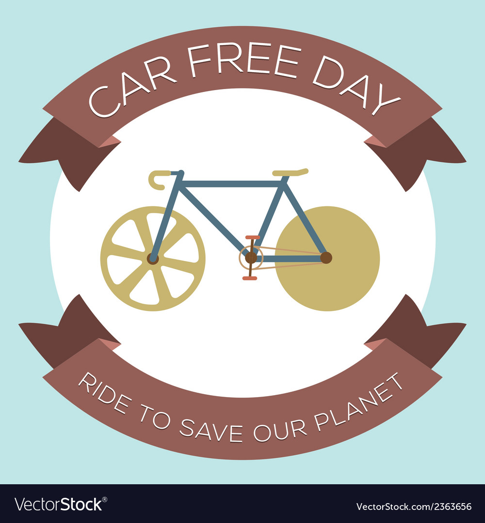 Car free day vector | Price: 1 Credit (USD $1)