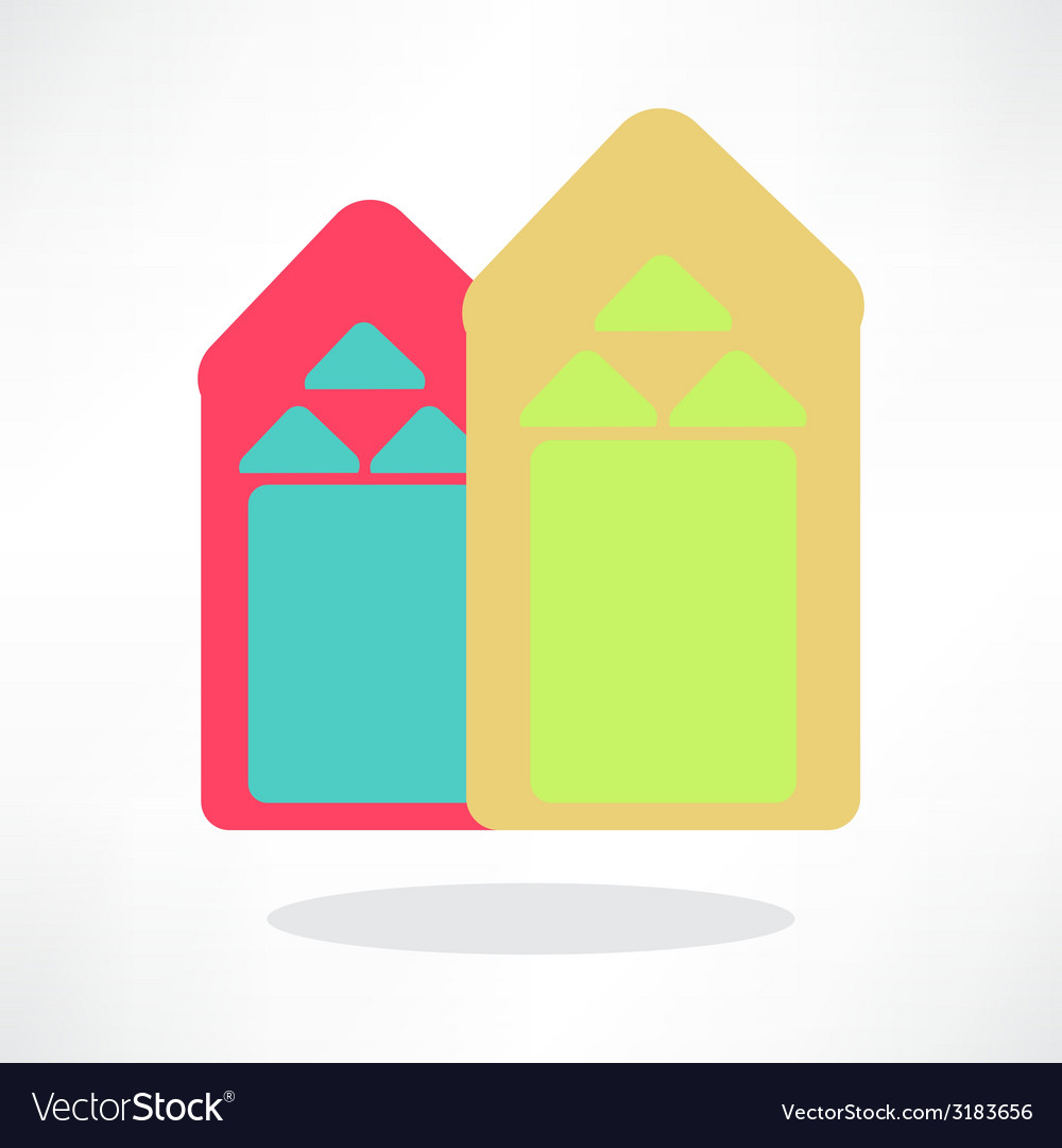Colorful houses vector | Price: 1 Credit (USD $1)