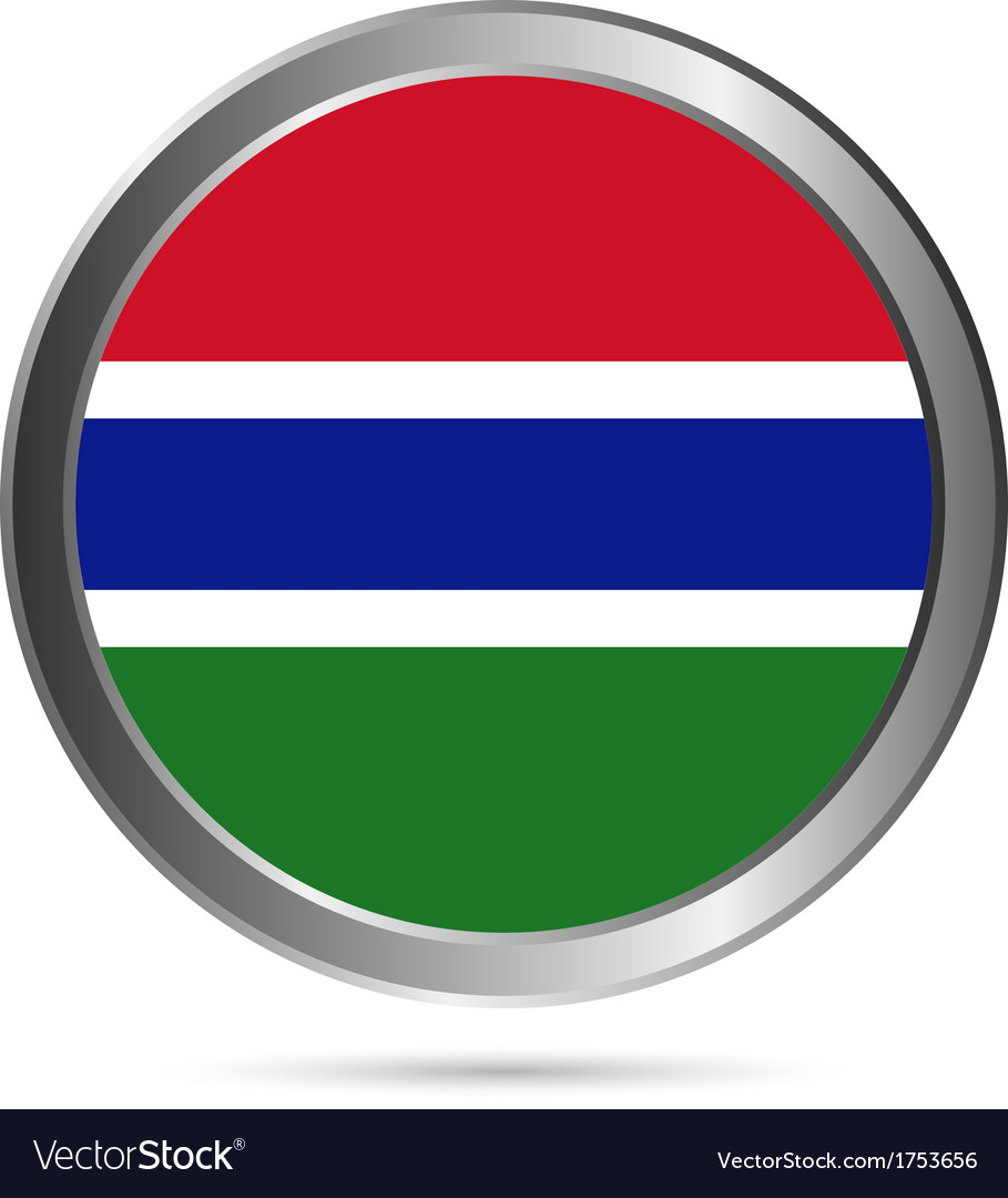 Gambia flag button vector | Price: 1 Credit (USD $1)