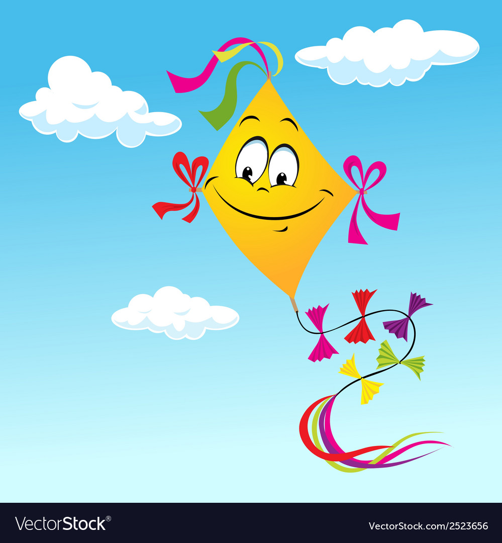 Kite cartoon vector | Price: 1 Credit (USD $1)
