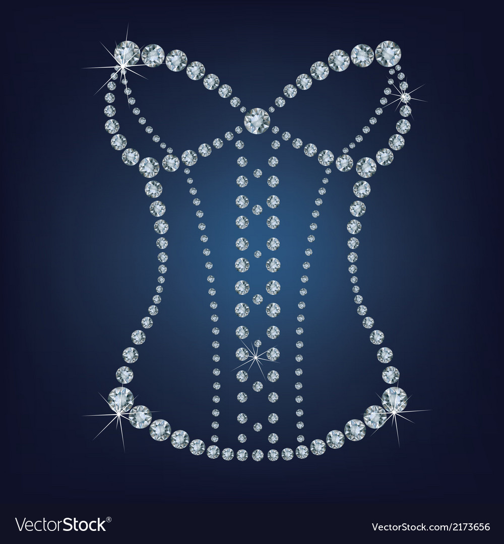 Ladys sexy corset made from diamonds vector   Price: 1 Credit (USD $1)